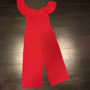 H&M Red jumpsuit